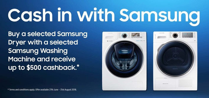 Samsung Washer Dryer Bundle Cashback