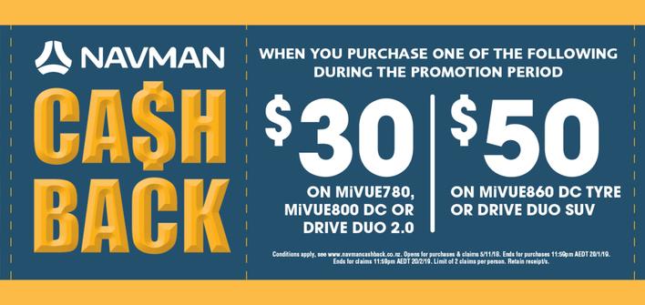 Navman Cash Back