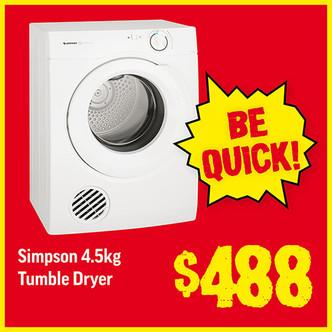 Price Smash - Simpson Dryer