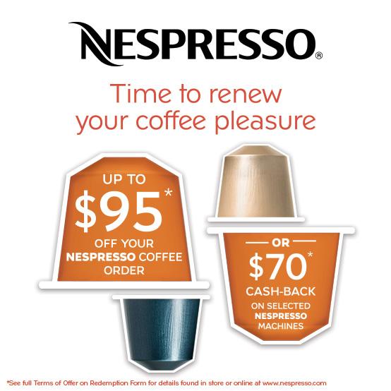 Nespresso Cashback March-May 2016