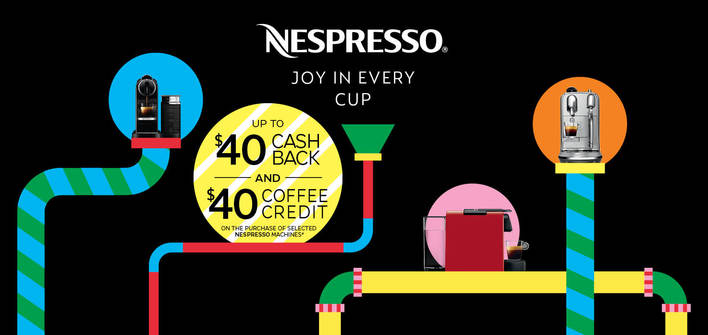 Nespresso Coffee Credit and Cash Back Offer 30th October 2017 and 14th January 2018