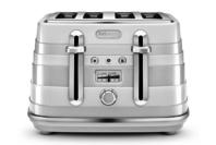 DeLonghi Avvolta 4 Slice Toaster - White