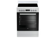 Beko 60cm White Vitroceramic Upright Cooker