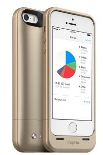 Mophie Space pack 32GB rechargeable case for iPhone 5/5s Gold