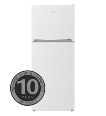 Beko 424l white top mount fridge freezer btm425w
