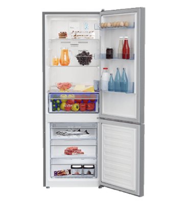 Beko 335l Bottom Mount Fridge Freezer Platinum Buy