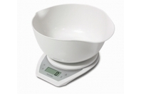Salter Aquatronic Mixing Bowl Electronic Scale - White