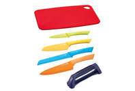 Scanpan Spectrum 6pc Kitchen Knife Set with Cutting Board & Sharpener