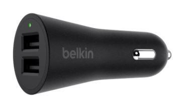 Belkin boostup 2 port car charger usb a to lightning cable f8j221bt04 blk 2