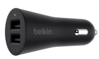 Belkin boostup 2 port car charger f8m930btblk