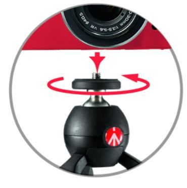 Manfrotto pixi mini csc tripod black 4