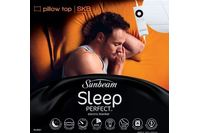 Sunbeam Sleep Perfect Super King Bed Pillow Top Heated Blanket