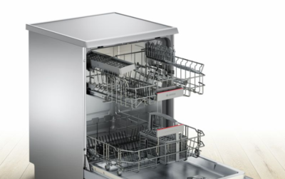 Sms46gi01a bosch 60cm stainless steel freestanding dishwasher