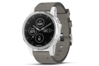 Garmin fenix 5S Plus White with Grey Suede Band