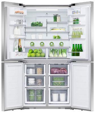 Fisher paykel activesmart fridge 905mm quad door with ice water 605l rf605qduvx1 2