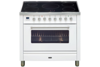 ILVE 90cm White Induction Freestanding Cooker