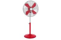 Swan 40cm Retro Pedestal Fan Red