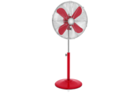 Swan 40cm Retro Pedestal Fan Red