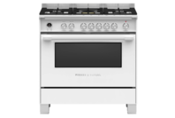 Fisher & Paykel 90cm Freestanding Dual Fuel Cooker White