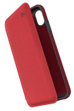 Speck iPhone XS Max Presidio Folio Case Red