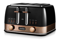 Sunbeam New York Collection 4 Slice Toaster Black Gold