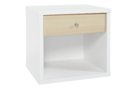 Platform10 Cosmo Bedside Table, 1 Drawer (White/Beech)