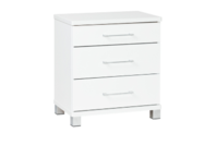 Platform10 Arctic Three Drawer Tall Bedside Table