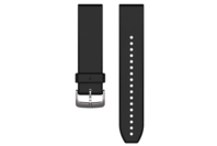 Garmin QuickFit 22 Silicone Watch Band (Black/Silver)