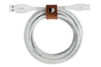 Belkin 4.0 FEET DuraTek Plus USB-C to USB-A Cable with Strap (White)