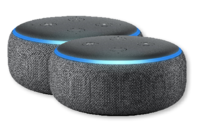 Amazon Echo Dot (3rd Gen) Smart Speaker with Alexa - Charcoal (Pair)
