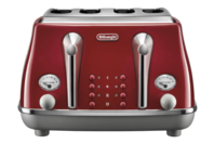 De'Longhi Icona Capitals 4 Slice Toaster - Tokyo Red