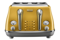 De'Longhi Icona Capitals 4 Slice Toaster - New York Yellow