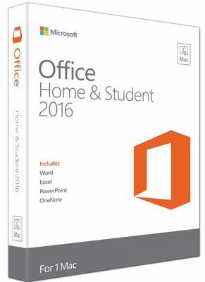 Microsoft Office Home & Student 2016 MAC - 1 User