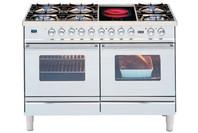 Ilve 120cm Quadra Cooker with Dual 60cm Ovens & Ceran Zone