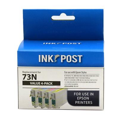 INKPOST FOR EPSON INK 73N VALUE PACK (B/C/M/Y)