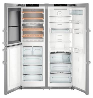 Liebherr 645l side by side fridge freezer with wine cabinet