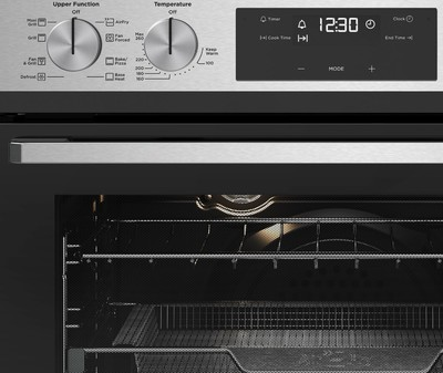 Westinghouse 60cm multi function double oven with airfry  stainless steel %285%29
