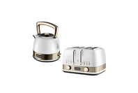 Sunbeam New York Collection Pot Kettle and Toaster - White Gold