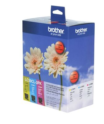 Brother Ink 3 Pack LC39C,LC39Y,LC39M Cartidges