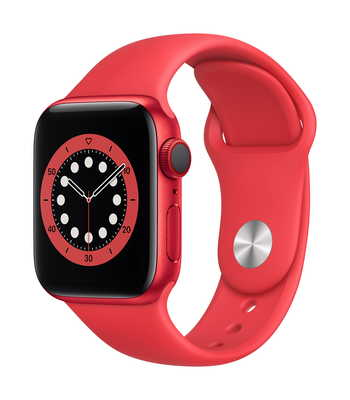 Apple Watch Series 6 GPS + Cellular, 40mm Red Aluminium Case with Red Sport Band - Regular