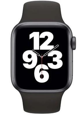 Apple Watch SE GPS, 40mm Space Gray Aluminium Case with Black Sport Band - Regular