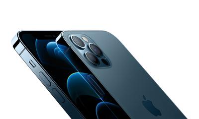 Iphone 12 pro blue close