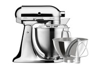 KitchenAid 4.8L Artisan Stand Mixer + Flex Edge Beater - Metallic Chrome