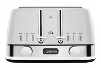 Sunbeam  New York 4 Slice Toaster - White/Silver