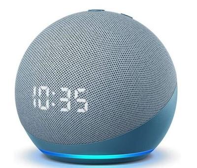 Amazon Echo Dot (4th Gen) with Clock - Twilight blue