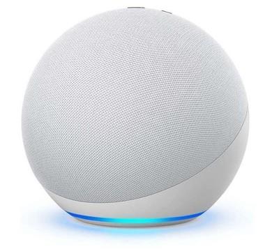 Amazon Echo (4th Gen) with Premium Sound, Smart Home Hub & Alexa - Glacier White