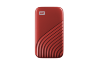 WD My Passport SSD, 1TB, USB 3.2 Gen-2 HDD - Red