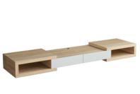 Tauris Split 2500 Tv Cabinet - Light Oak