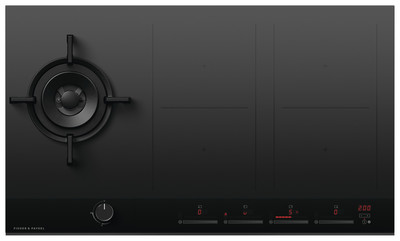 Fisher & Paykel Combi Cooktop Gas + Induction 90cm