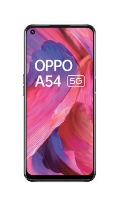 Oppo a54 5g fluid black front lowres